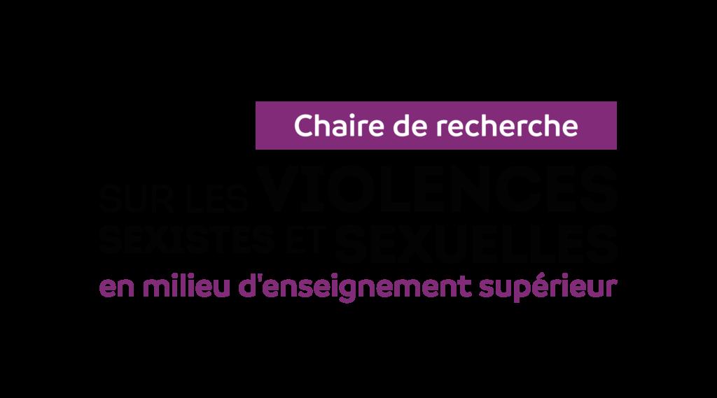 Logo de la Chaire de recherche - Violences sexistes et sexuelles en enseignement supérieur
